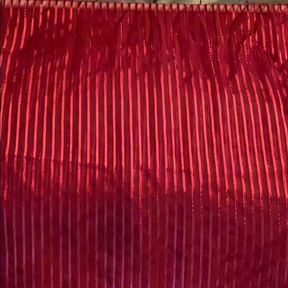 Accessories - Red sheer striped scarf